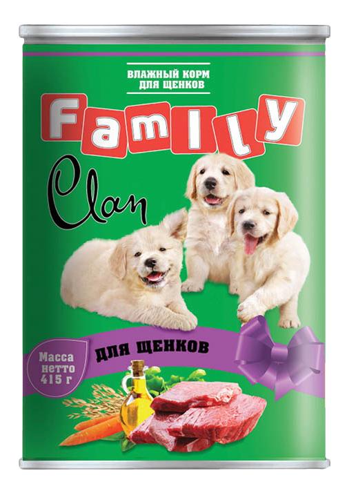 Консервы для щенков Clan Family, телятина, 415г