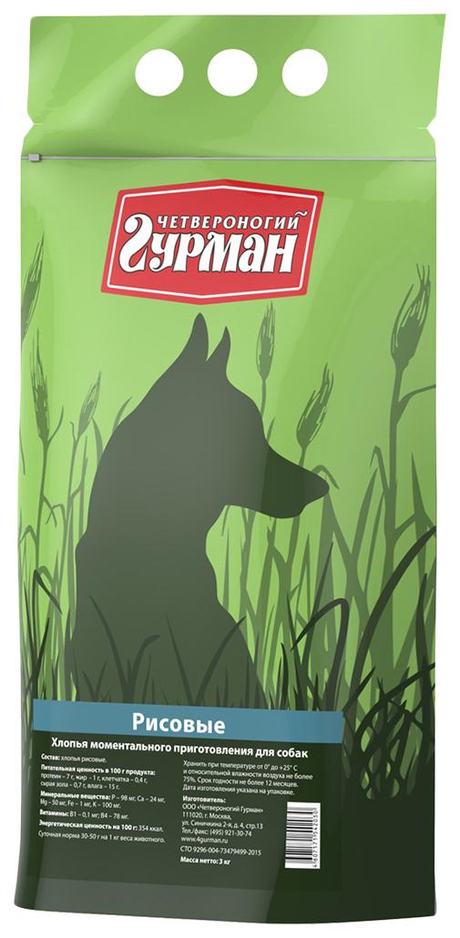 Каша для собак Четвероногий Гурман Рисовая, 3кг фото