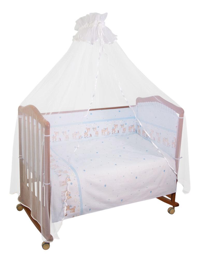 Комплект детского постельного белья Тайна Снов Оленята 3 предмета голубой фото