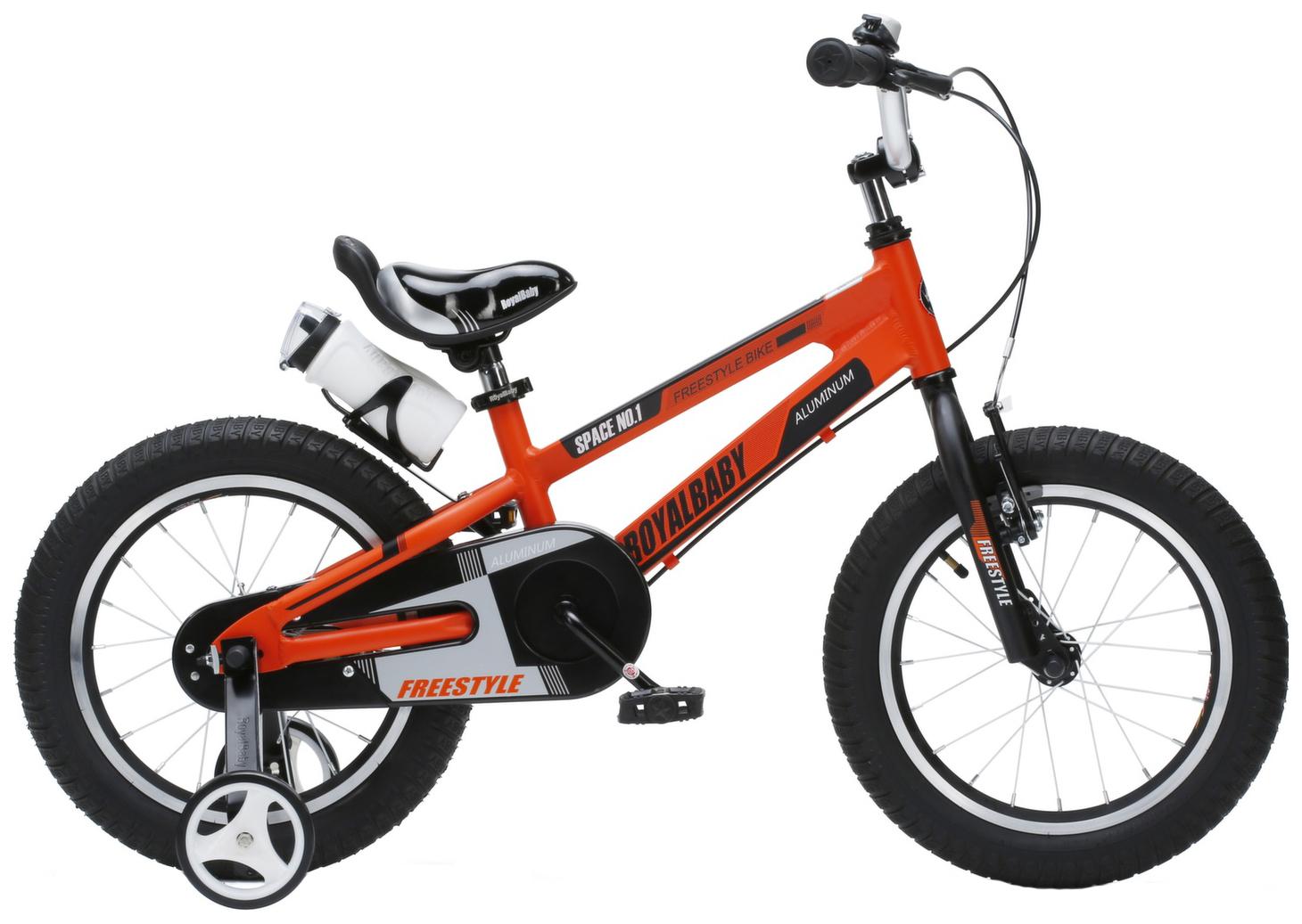 Купить Велосипед Royal Baby 2018 onesize Freestyle Space №1 New Design 16 оранжевый RB16-17, Детские двухколесные велосипеды
