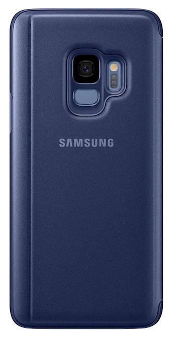 Чехол Samsung Clear View Standing Cover S9 синий
