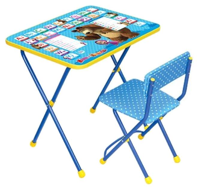 Детский набор мебели Ника Маша и медведь азбука 2 синий