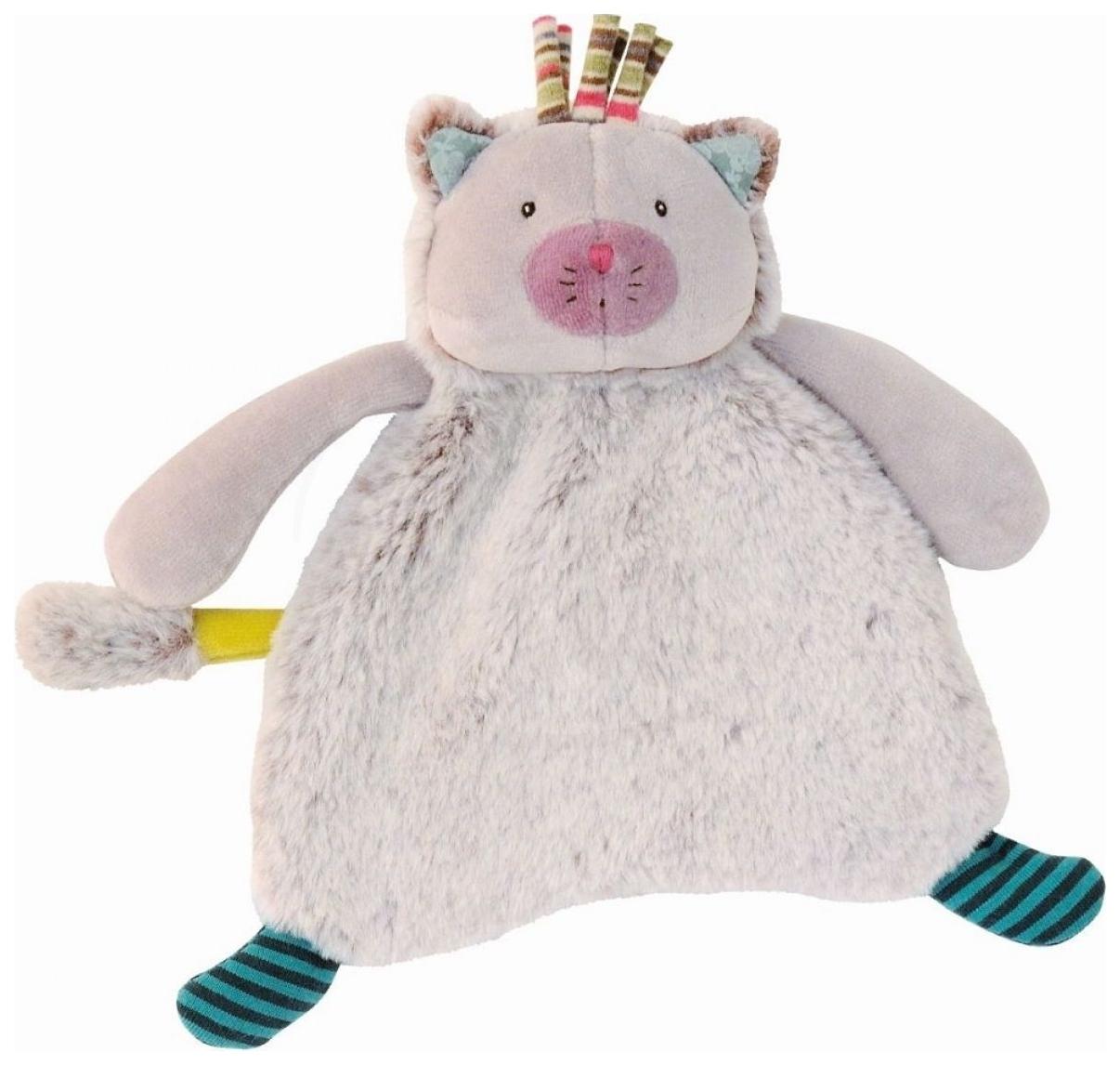 Купить Котик комфортер 660016, Игрушка-комфортер Котик Moulin Roty 660016, Комфортеры для новорожденных