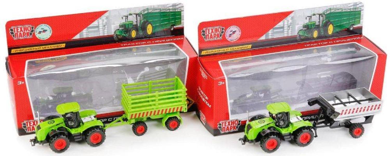 Купить Трактор Технопарк трактор зеленый 77039-r, Строительная техника