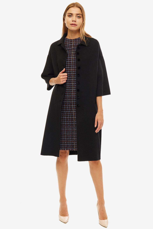 Пальто женское SELVAGGIO черное