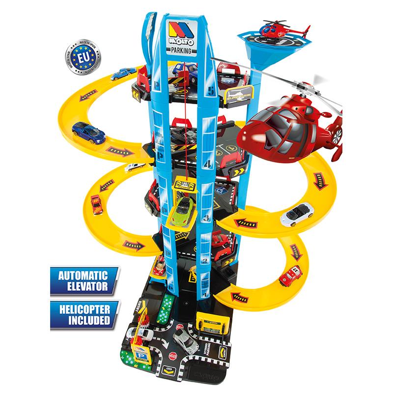 Купить Парковка Molto с вертолетом, 5 уровней 11411, Детские парковки