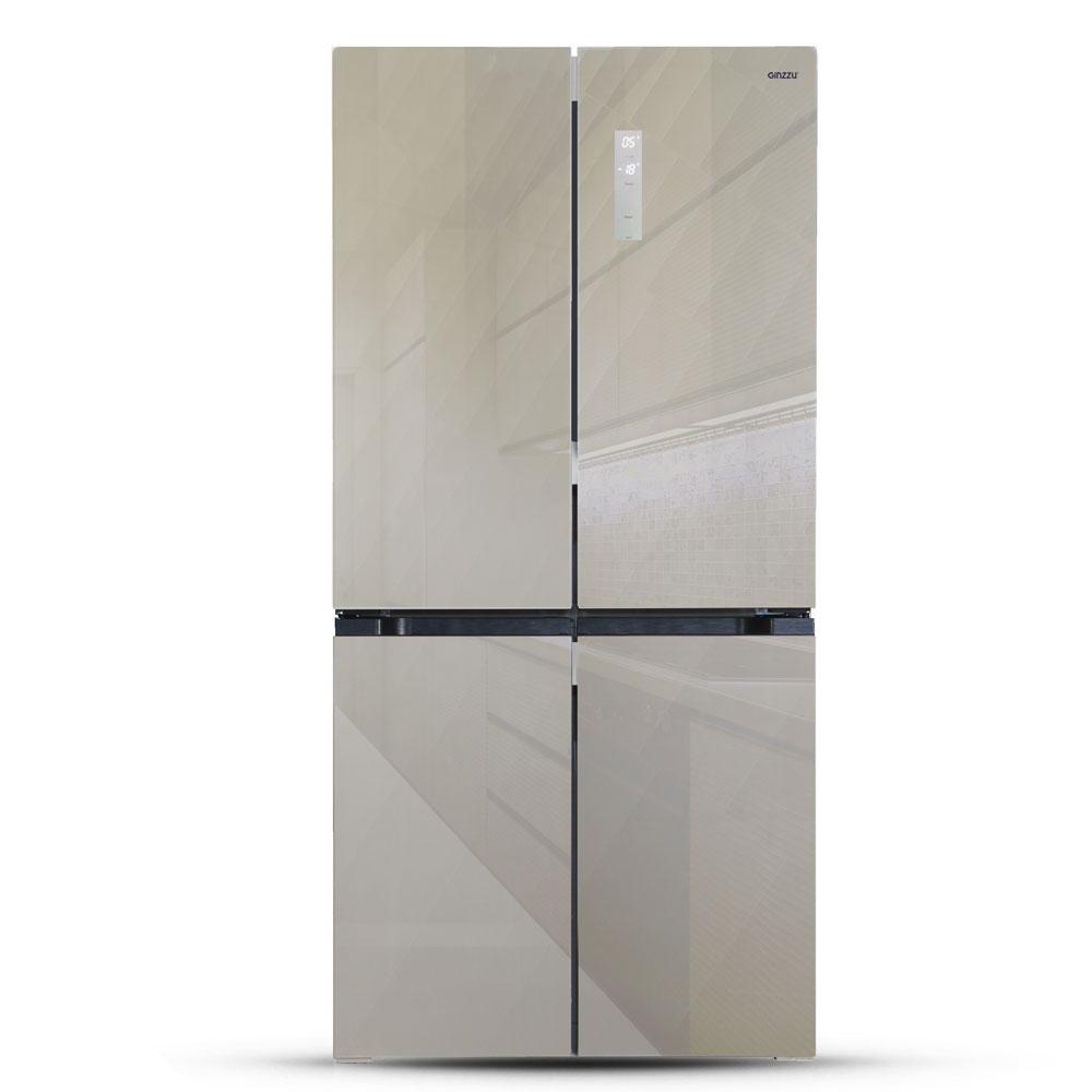 Холодильник Ginzzu NFK 575 Gold Glass
