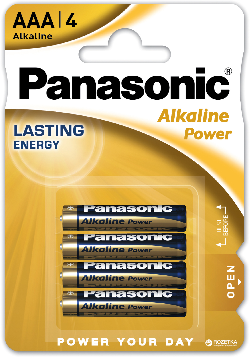 Батарейка Panasonic Alkaline Power LR03REB/4BPR 4 шт