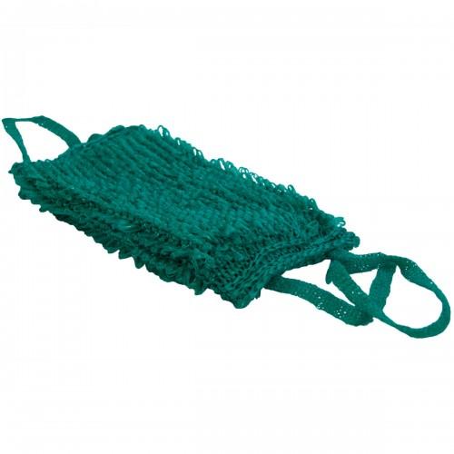 Мочалка VT крупной вязки двойная зеленая