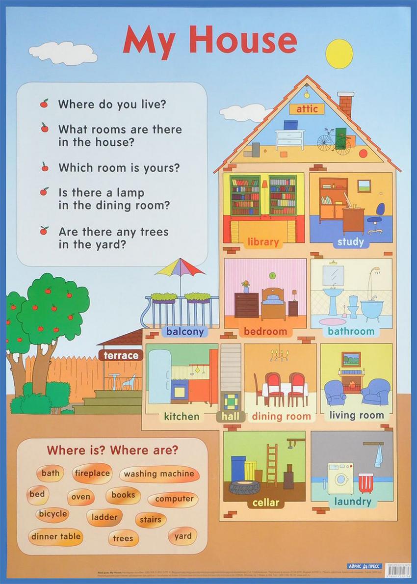 Купить Нп. Мой Дом. My House., Айрис-пресс, Иностранные языки для детей