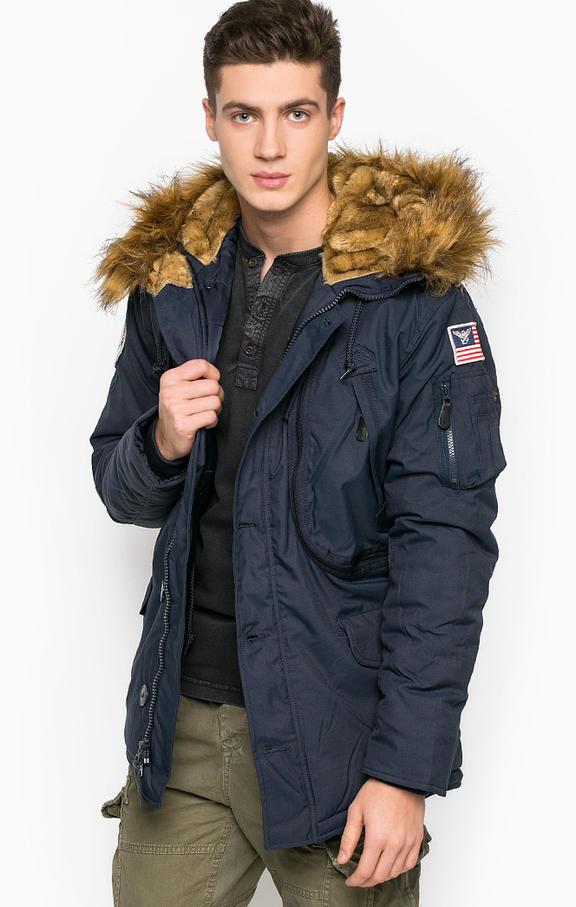 Куртка мужская Alpha Industries 123144 синяя S