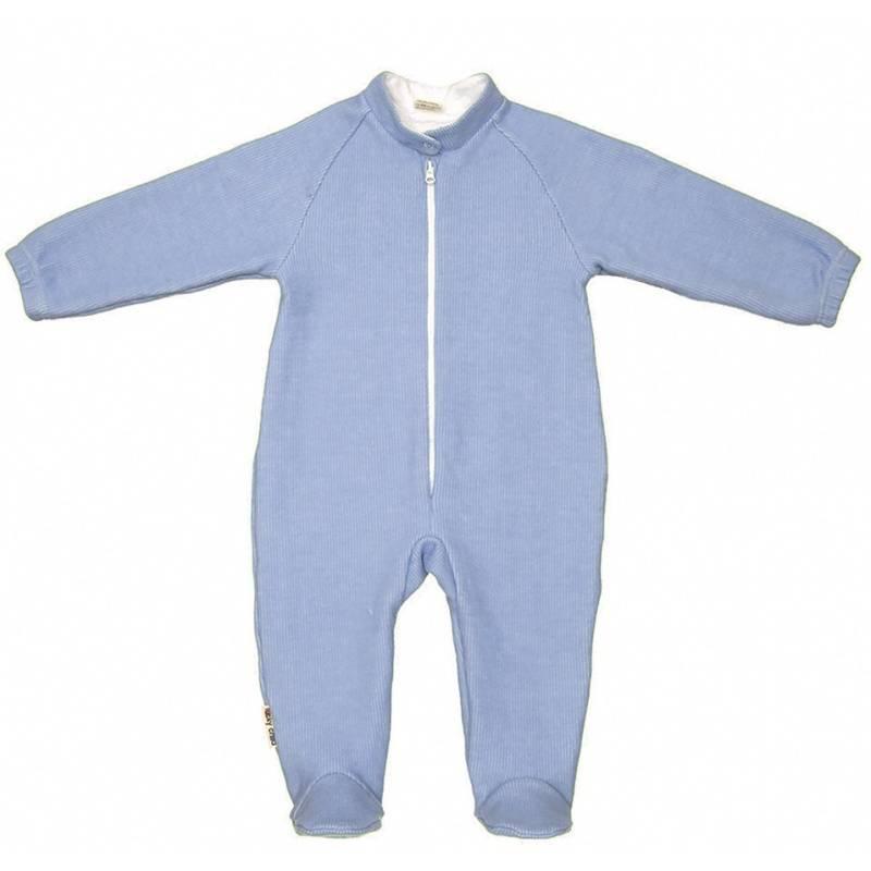 Купить 4-14.1/ГОЛУБОЙ, Комбинезон Lucky Child, цв. голубой, 68 р-р, Трикотажные комбинезоны для новорожденных