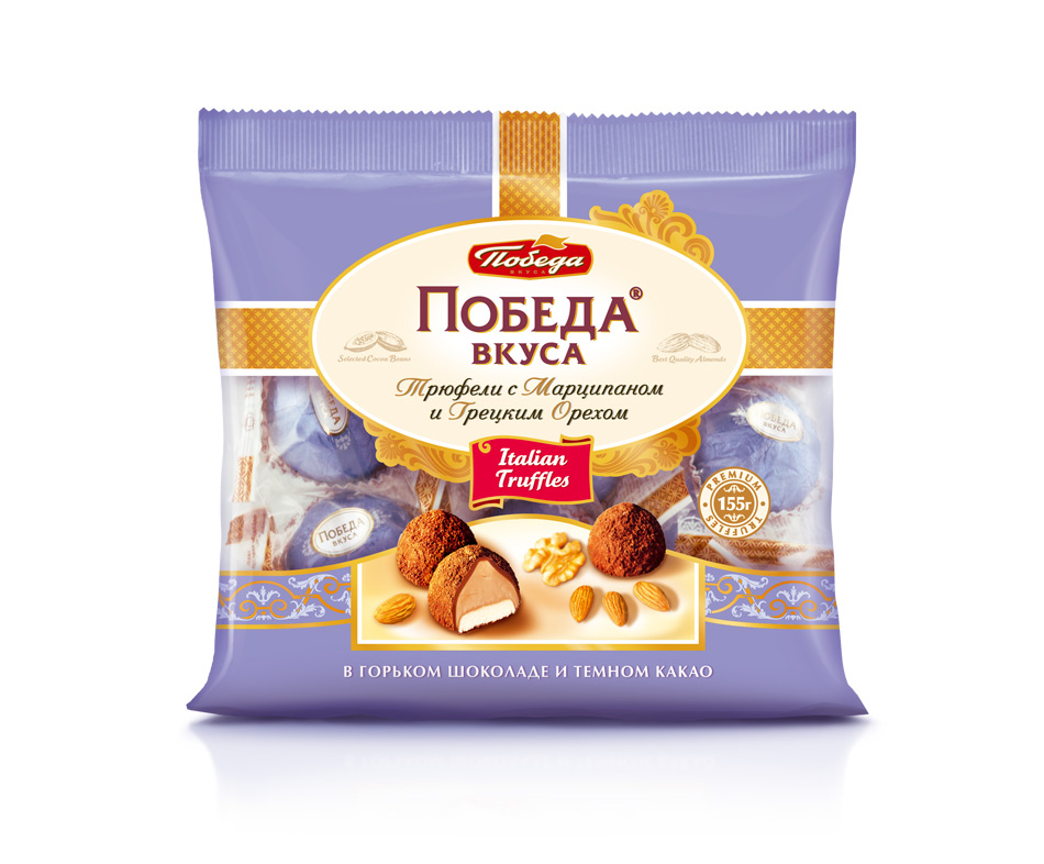 Трюфели грецкий орех Победа Вкуса с марципаном фото