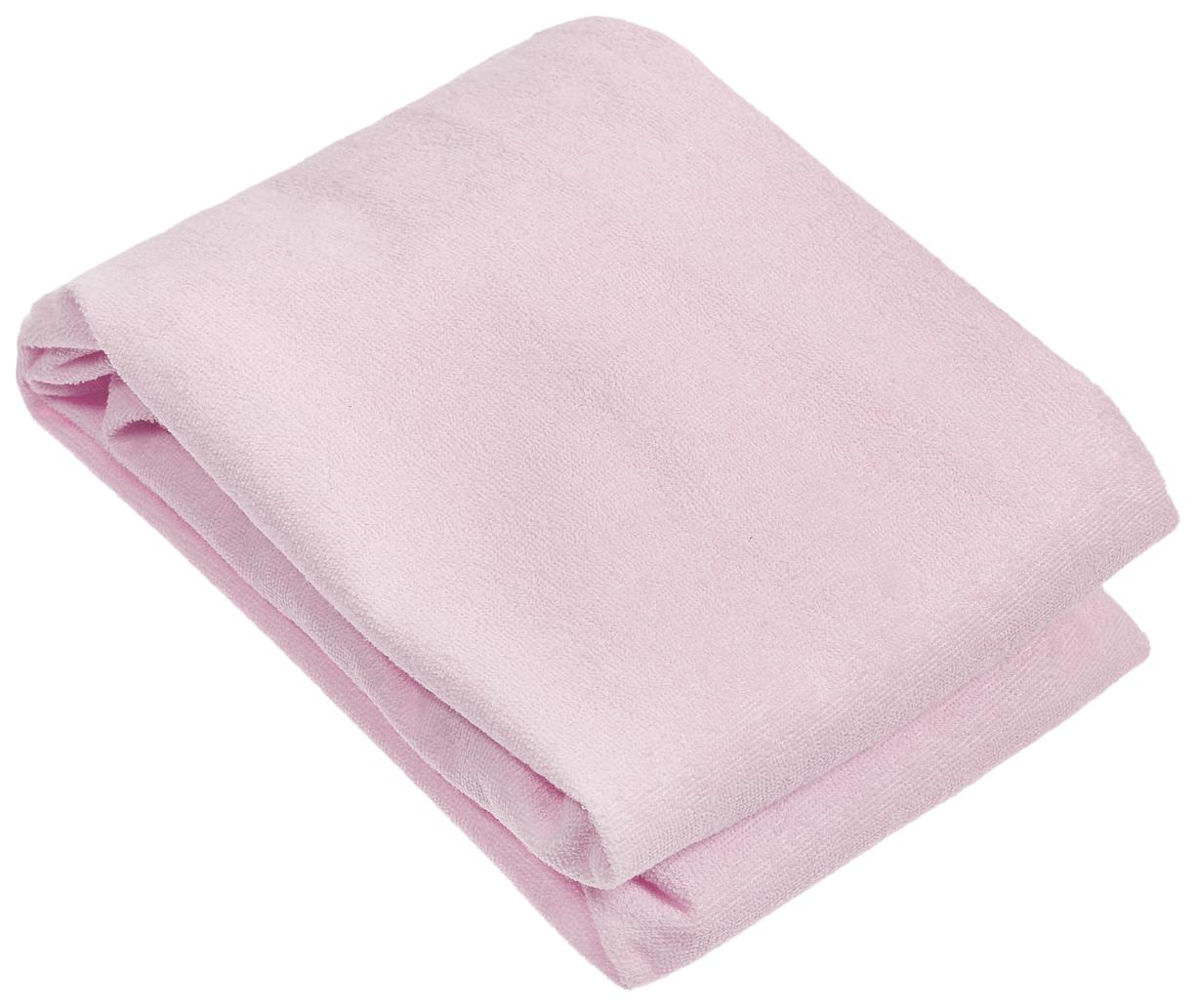 Наматрасник для круглой кроватки Baby Nice, розовый