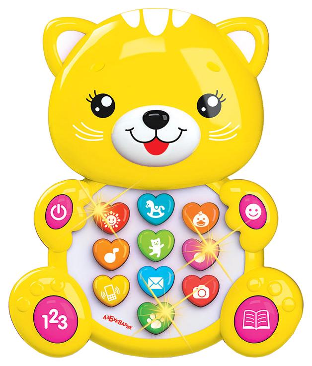 Интерактивная игрушка Азбукварик Зверята С Огоньками Котенок