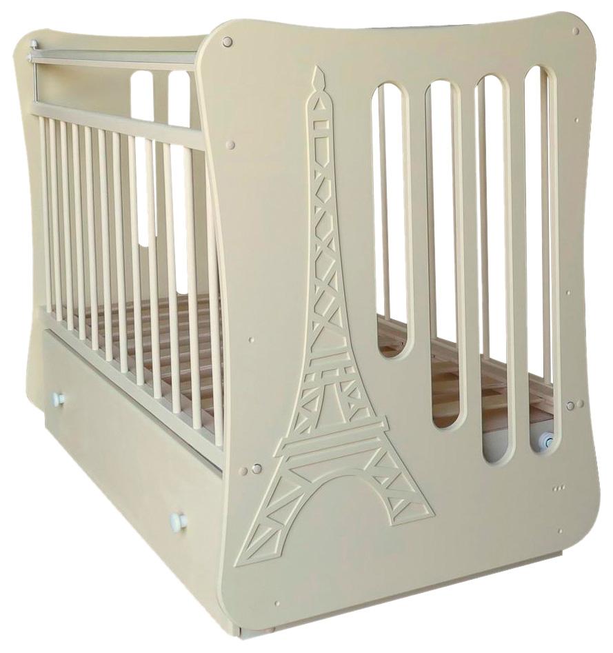 Купить Кроватка детская Островок уюта Вояж с маятником слоновая кость,