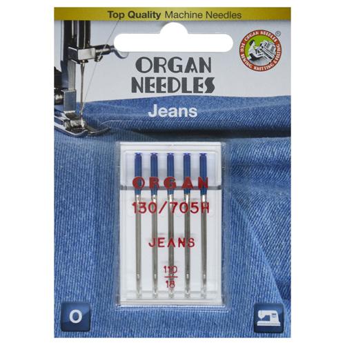 Иглы Organ джинсовые 5/110 Blister