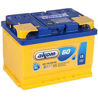 Аккумулятор АКОМ Standart 60 PR 12В 60Ач 520CCA 242x175x190 мм Обратная (-+) фото