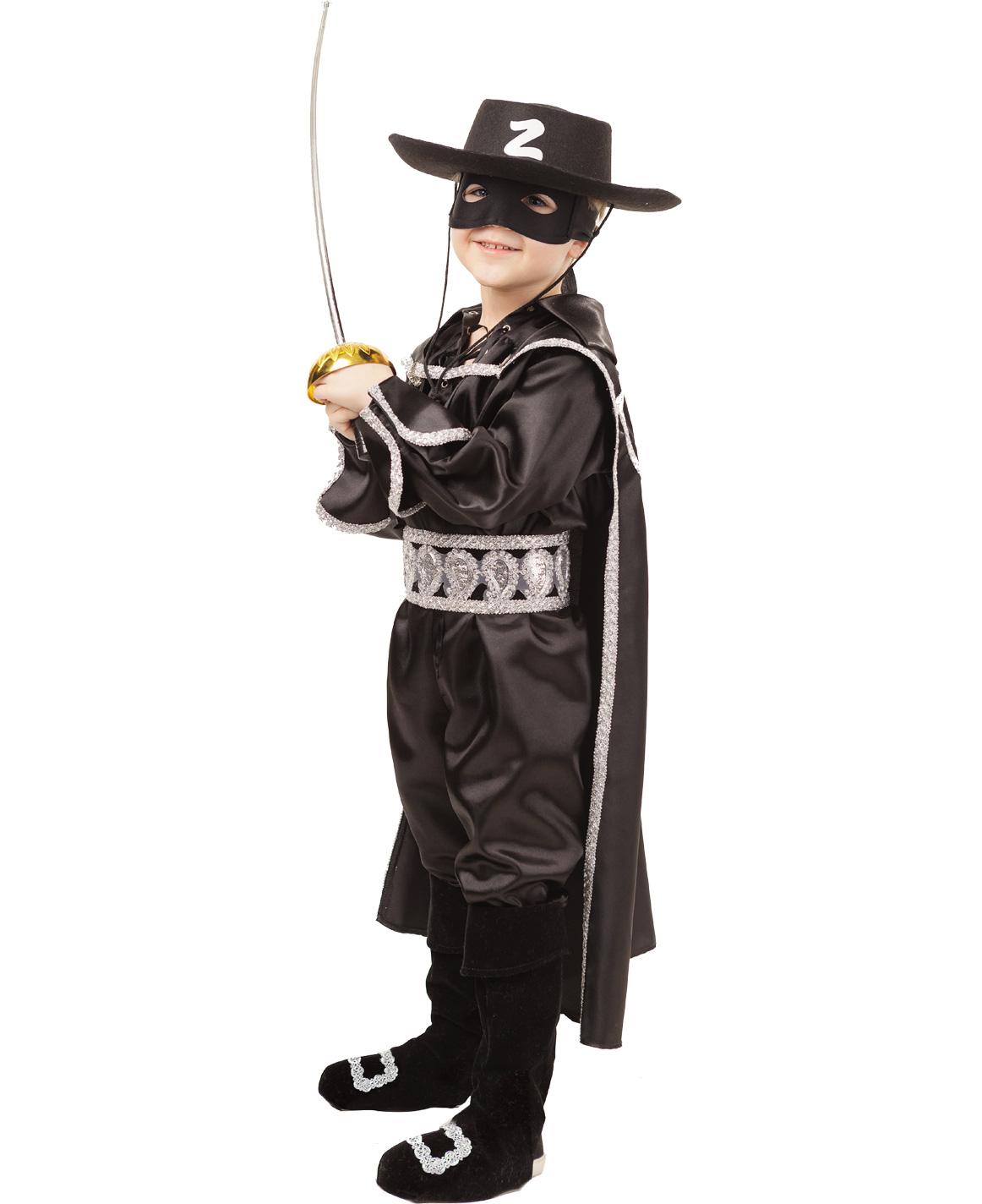Купить 2028, Карнавальный костюм Батик Зорро, цв. черный р.134,
