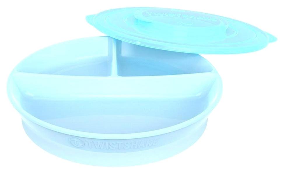 Тарелка с разделителями Twistshake, цвет: пастельный синий
