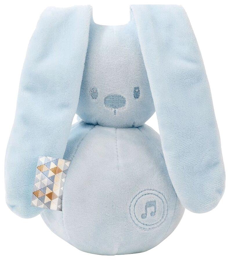 Купить Игрушка мягкая Nattou Musical Soft toy Lapidou Кролик light blue,