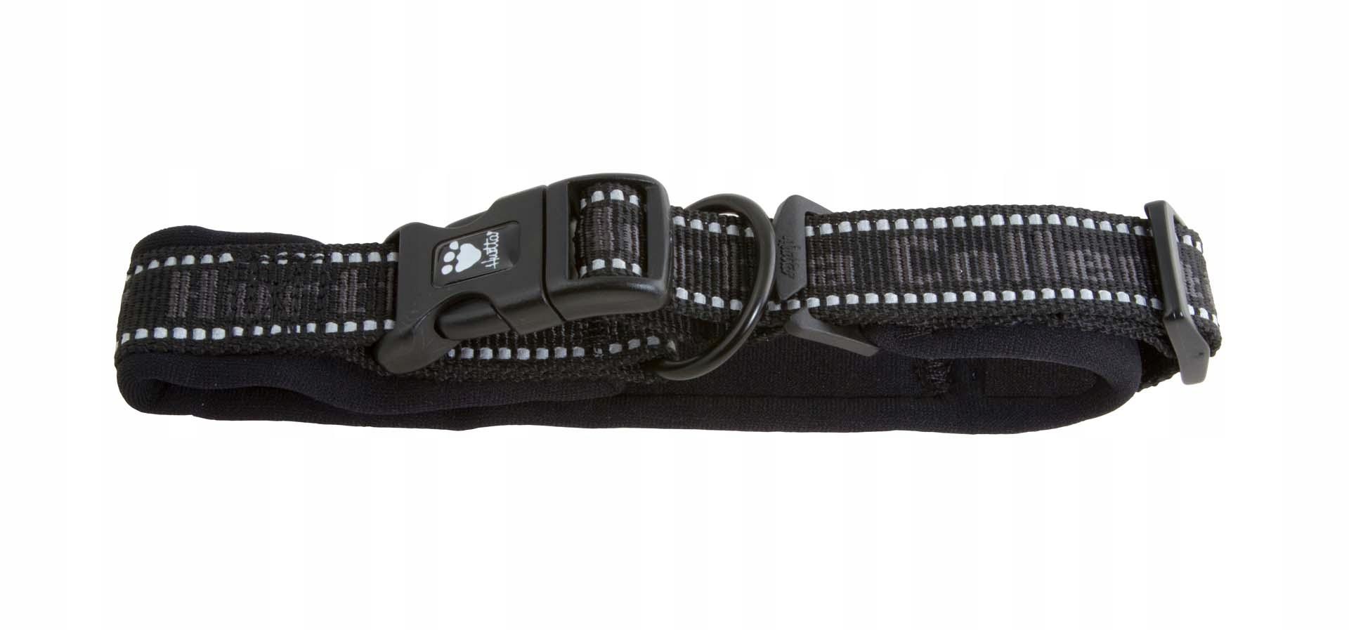Ошейник Hurtta Pro Padded черный для собак (30-40 см, Черный)