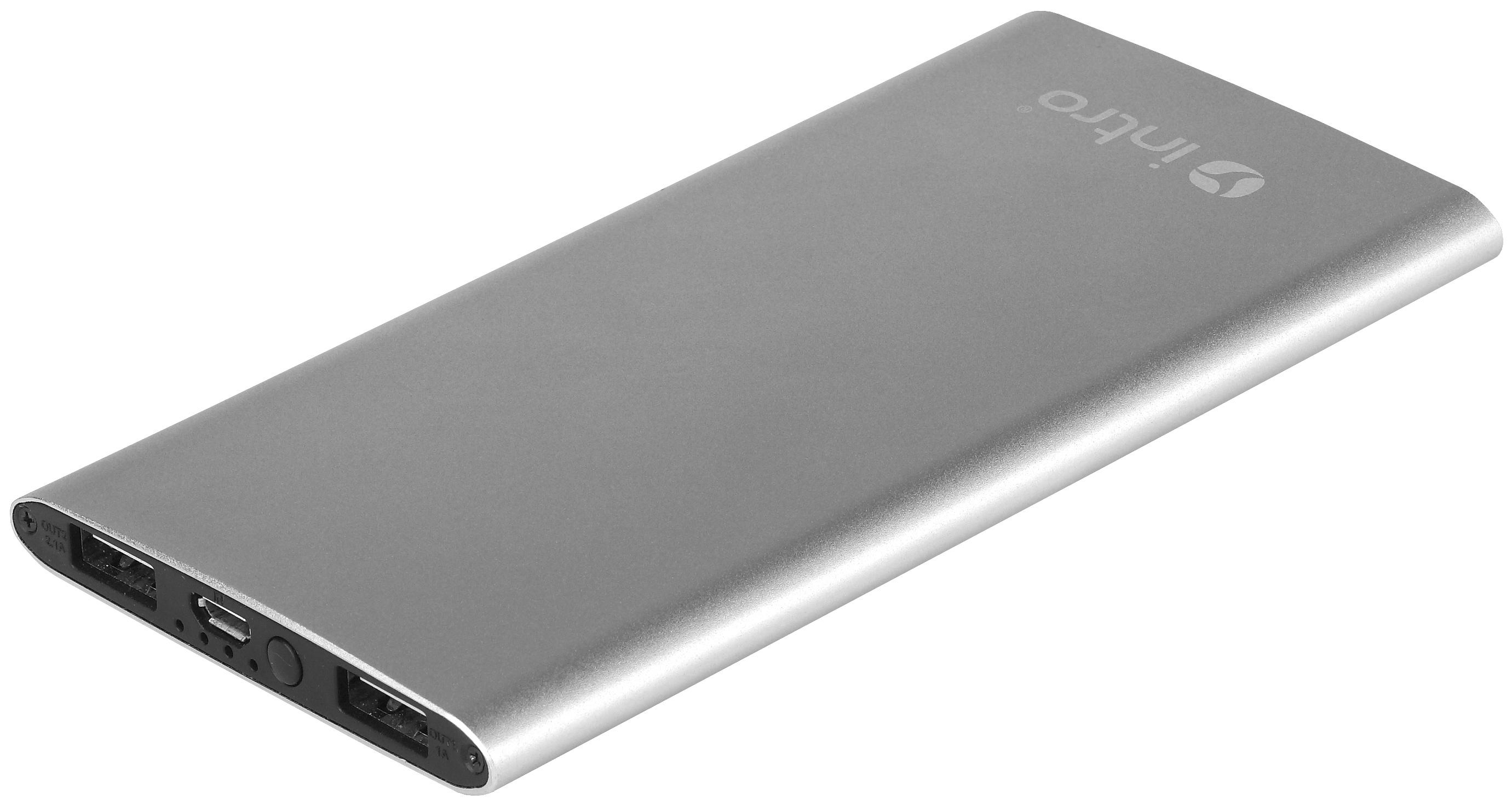 Внешний аккумулятор Incar (Intro) PB06 6000 мА/ч Silver  - купить со скидкой