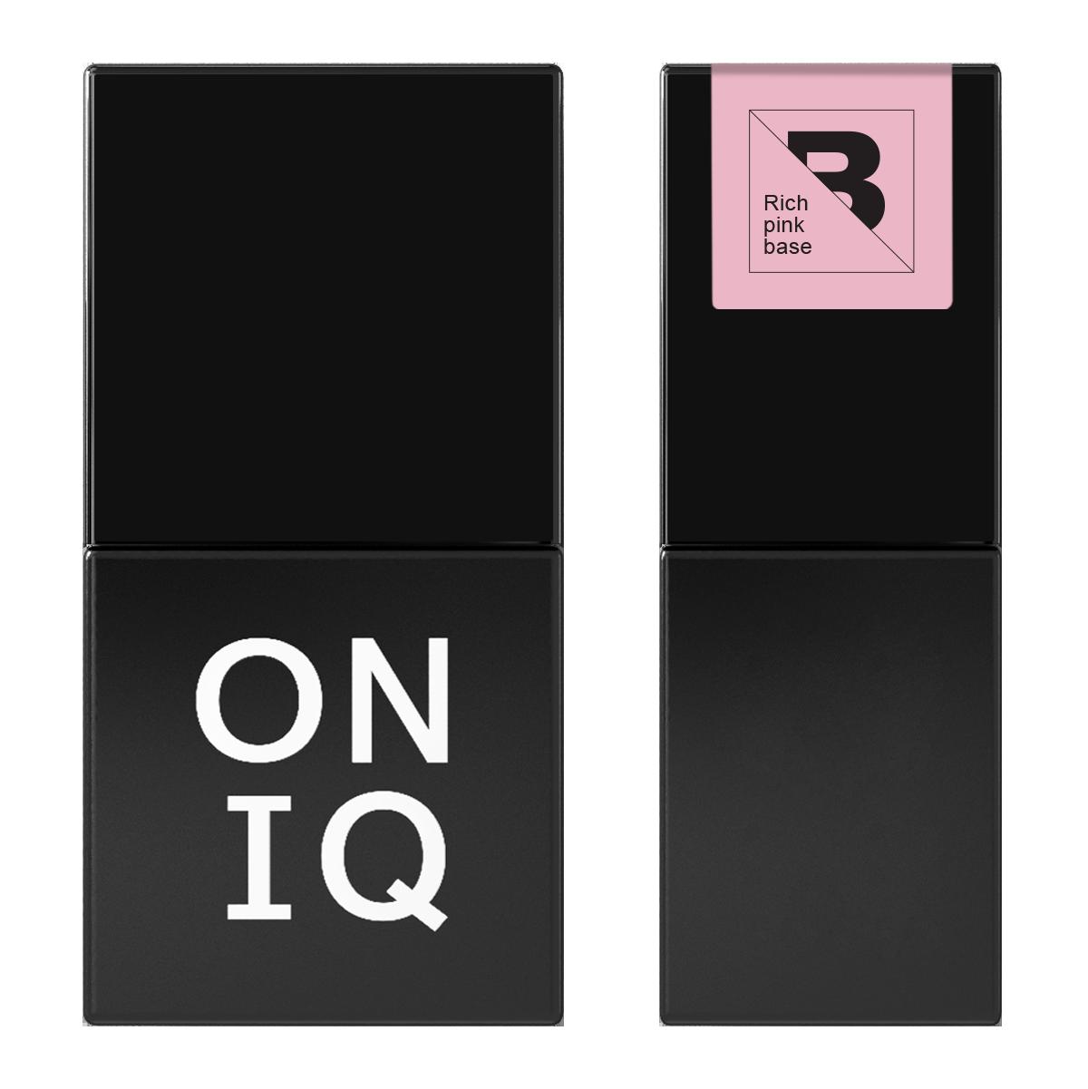 Гель лак Oniq Базовое покрытие Rich pink