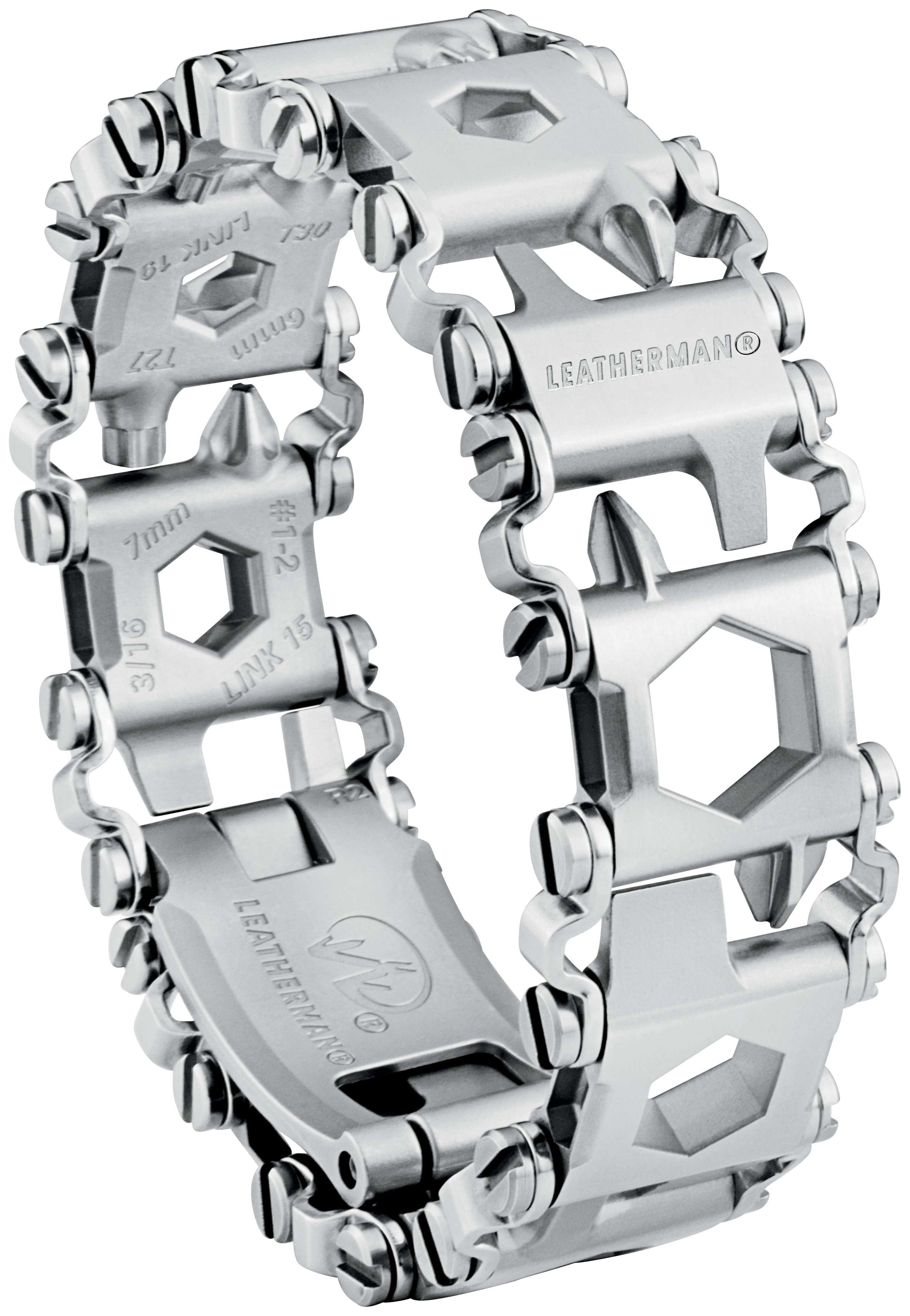 Браслет-мультитул Leatherman Tread 832325 160 мм серебристый, 29 функций