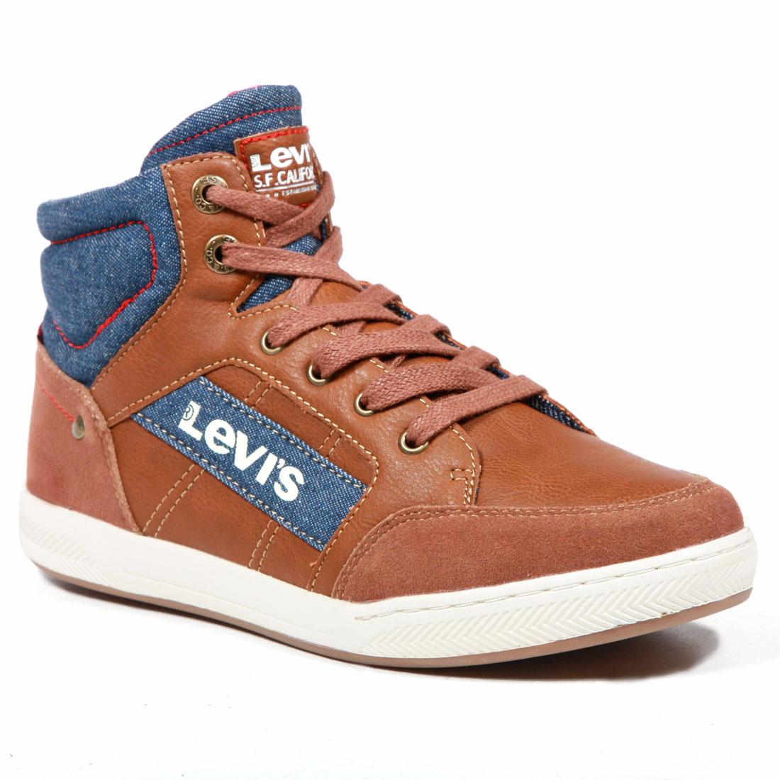 Купить VCLU0010S, Ботинки детские Levi's Kids, цв.коричневый р.38,