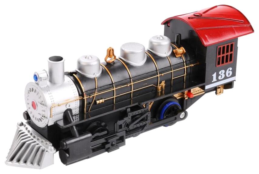 Купить Железная дорога Play Smart 0695 Классический поезд с дымом свет звук 212 см, PLAYSMART, Детские железные дороги