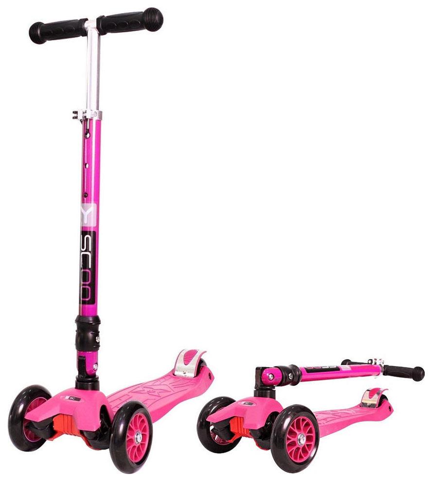 Купить Самокат трехколесный Y-Scoo 35 Maxi Fix Simple Pink, Самокаты детские трехколесные