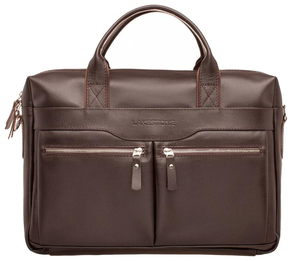 Портфель мужской кожаный Lakestone Dorset коричневый фото
