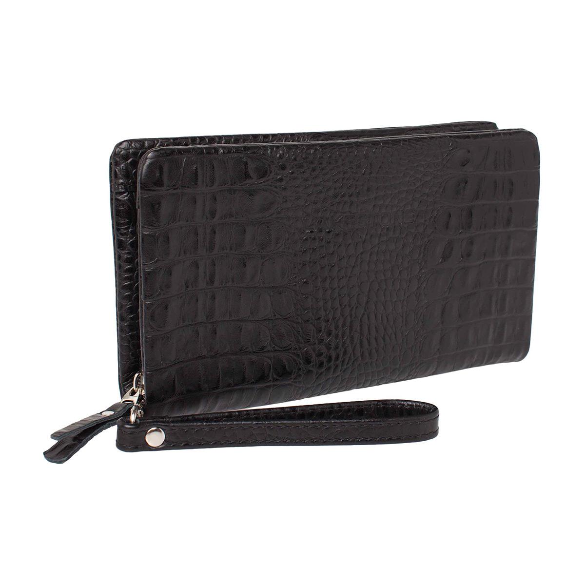 Клатч мужской кожаный Lakestone Crispin 932024/BLC черный фото