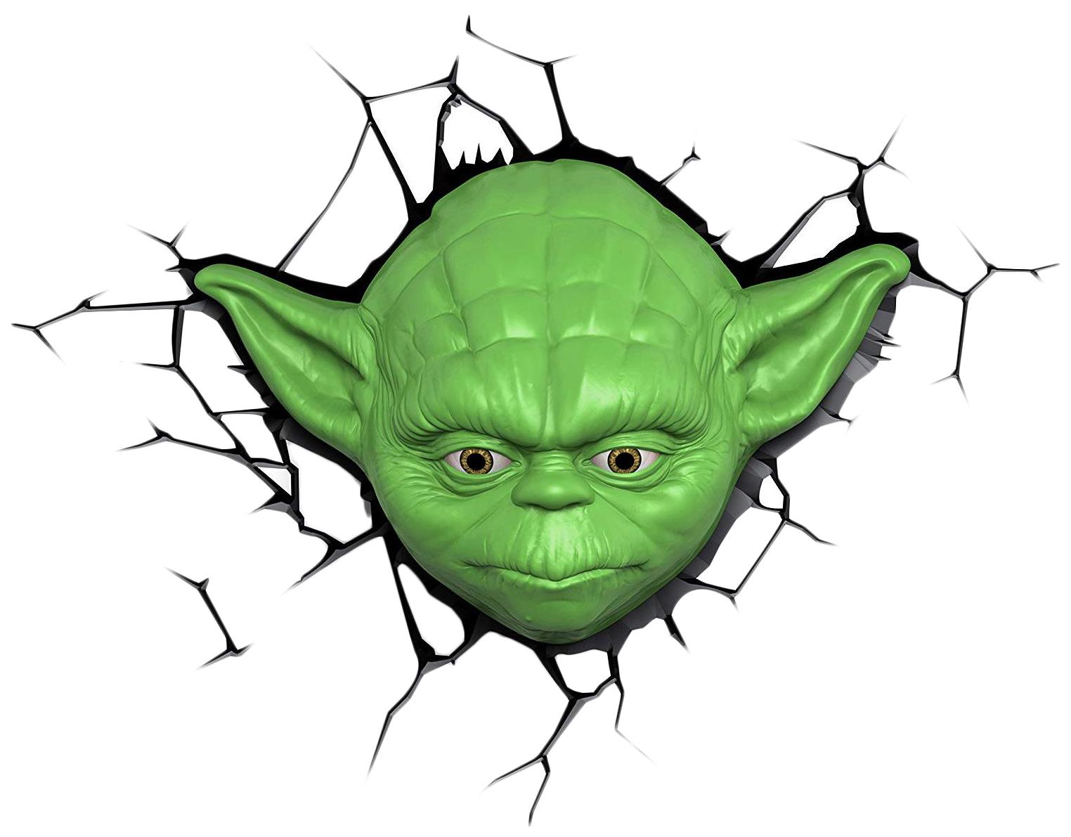 Светильник 3DLightFX Star Wars Yoda Face фото