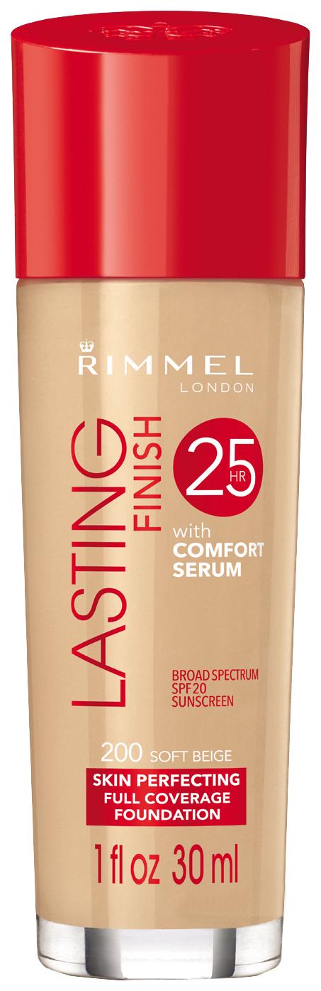 Тональный крем Rimmel Lasting Finish with Comfort Serum 200 Soft Beige 50 мл
