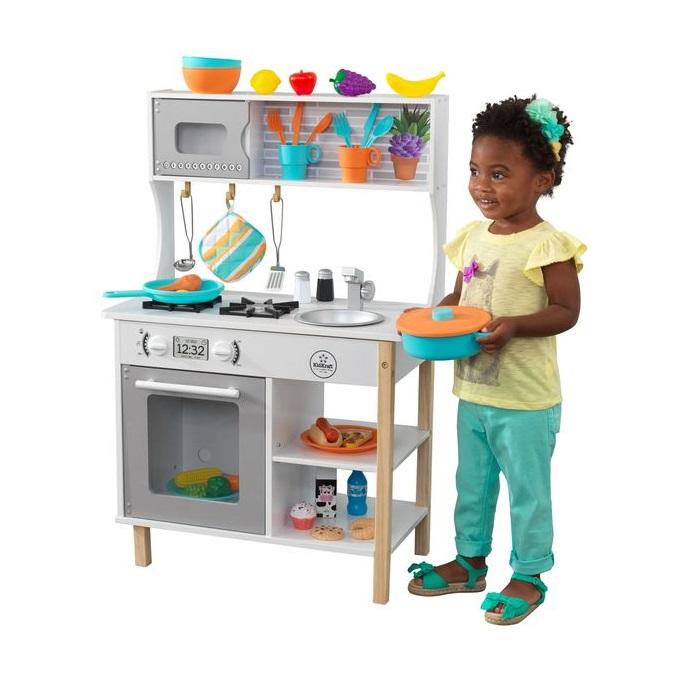 Купить Игрушечные кухни, Игоровая кухня KidKraft время игры серый, Детская кухня