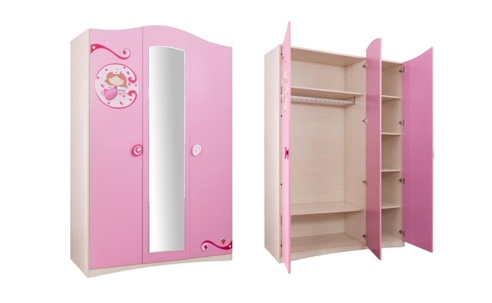 Купить Шкаф трехдверный Cilek Princess SL, Шкафы в детскую комнату