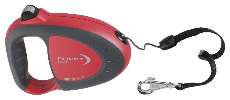 Рулетка для собак Ferplast Flippy Tech 12 x 3 x 9 cм красная