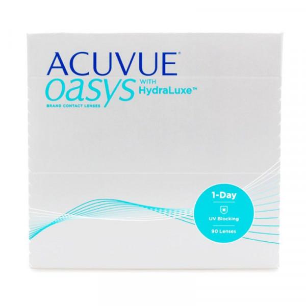 Контактные линзы Acuvue Oasys 1-Day with HydraLuxe 90 линз R 9,0 -9,50