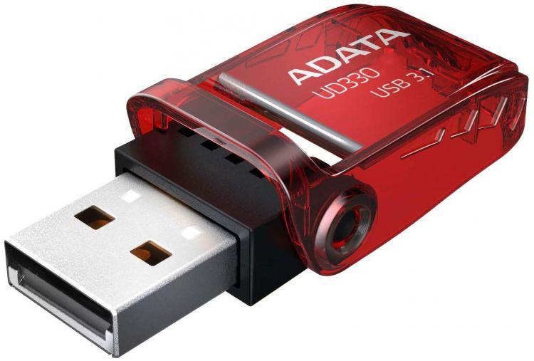 Флешка 64GB A-DATA UD330 USB 3.1 Red