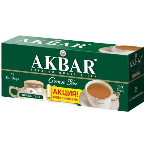 Чай зеленый Akbar изумрудная серия 25 пакетиков фото
