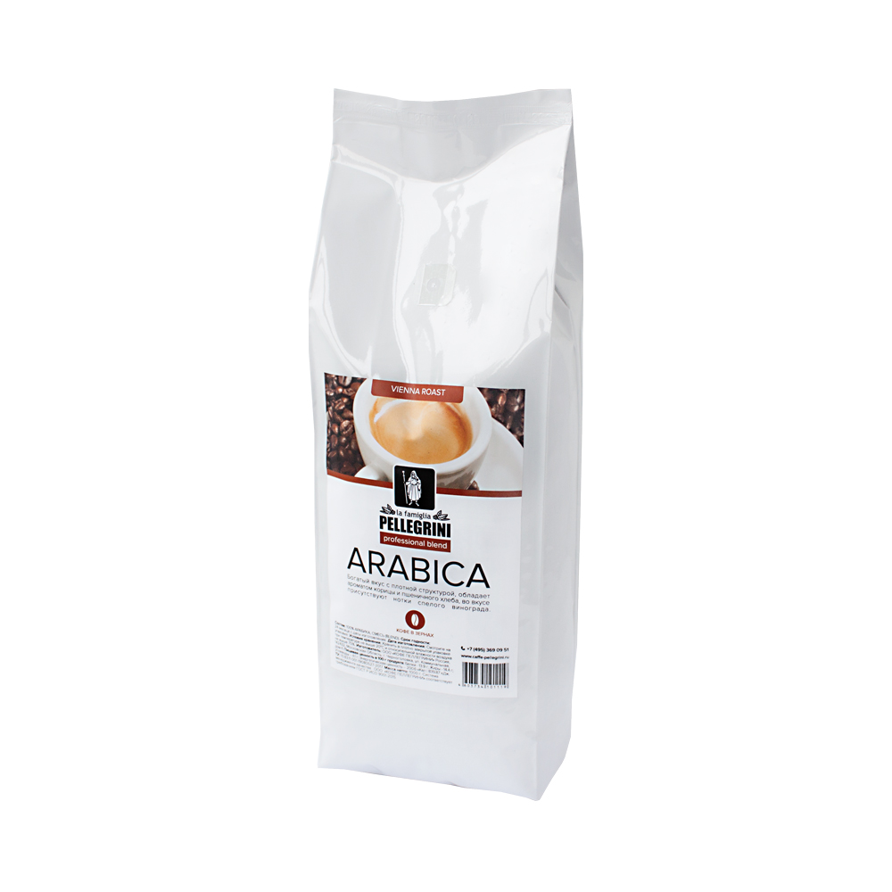 Кофе зерновой La famiglia Pellegrini  arabica professional blend 1000 г