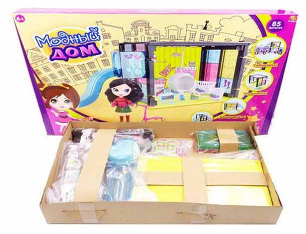 Модный дом ABtoys в наборе с куклой и мебелью 85 деталей PT-00851