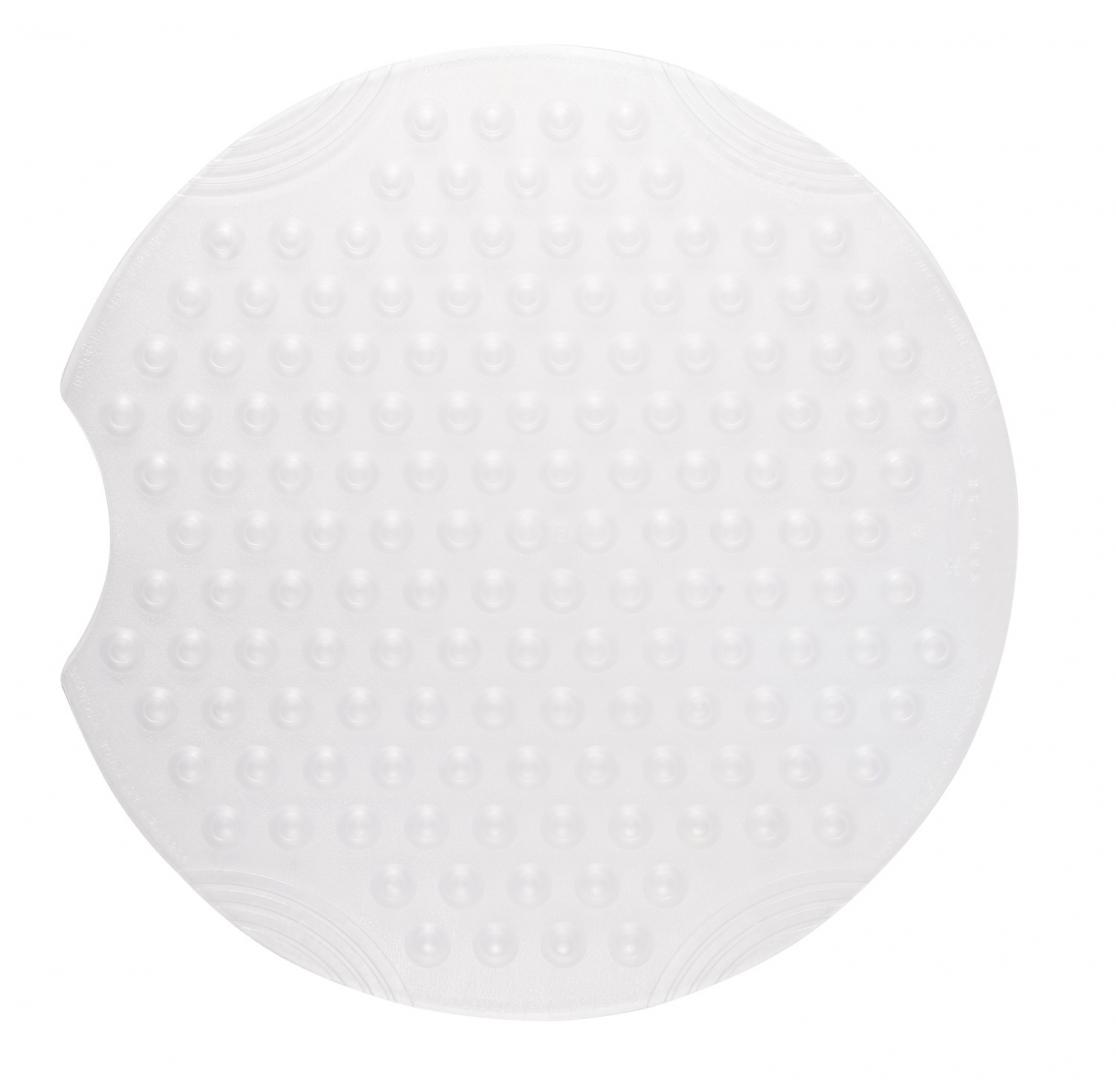 Коврик противоскользящий Tecno Ice белый, Ø 55 см