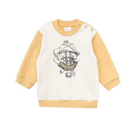 Купить Футболка детская Мамуляндия 17-111 молочный р.68, Детские футболки, топы