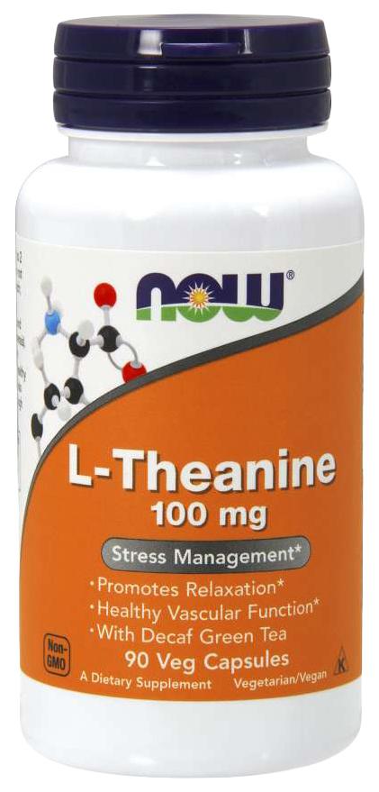Купить Для нервной системы NOW L-Theanine 100 мг 90 капсул