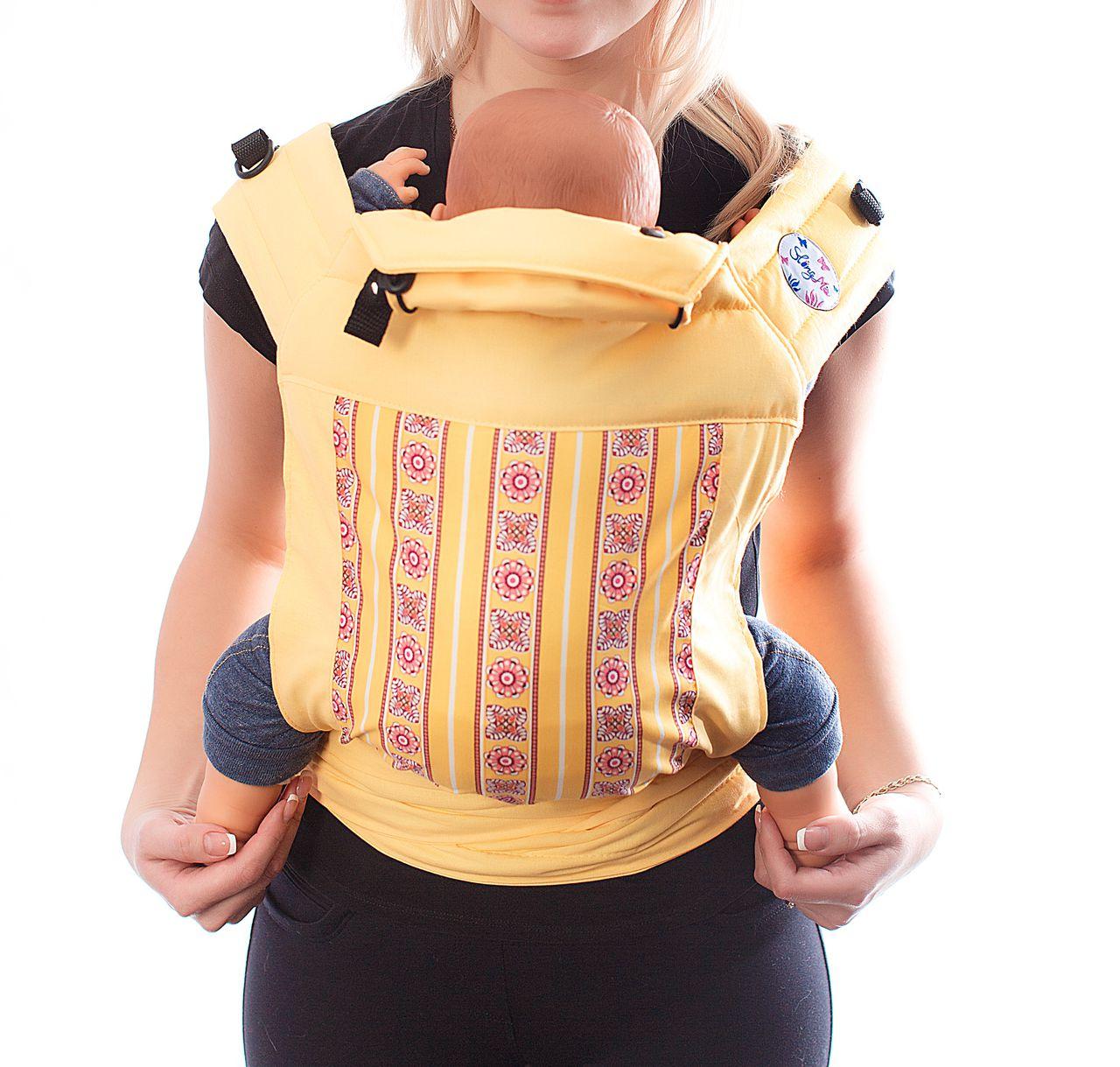 Купить Май-слинг, Май-слинг SlingMe Радужный желтый, Слинги для новорожденного