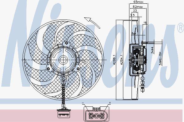 Вентилятор охлаждения двигателя NISSENS 85541