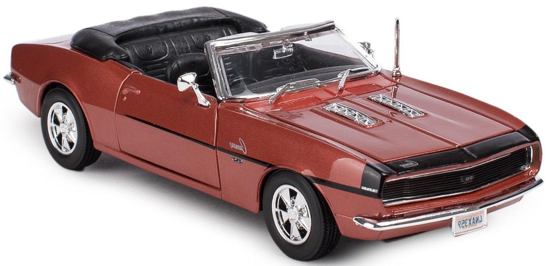 Купить Машинка Maisto бронзовая - Chevrolet Camaro SS 396 Convertible 1968г 1:24, Игрушечные машинки
